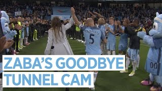 ZABA'S GOODBYE | Tunnel Cam | Man City 3-1 West Brom