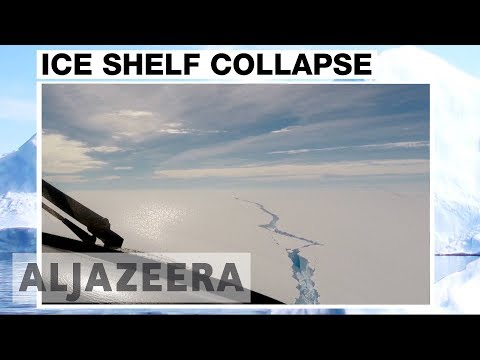 Giant Iceberg breaks off from Antarctic ice shelf