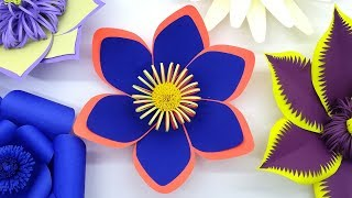 Wedding Flower Making Easy Tutorial | Beautiful Backdrop Flowers | Wall Decoration With Paper Craft