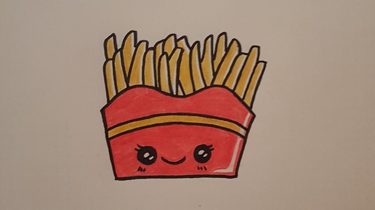 Tutorial Como Dibujar Unas Patatas Fritas Kawaii