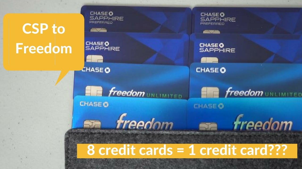 8 Cards Product Change From Chase Sapphire Preferred To Freedom