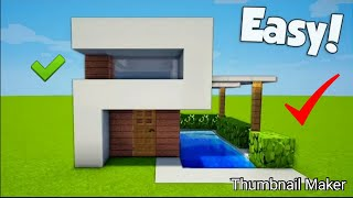 How to make modern house in Minecraft:2nd