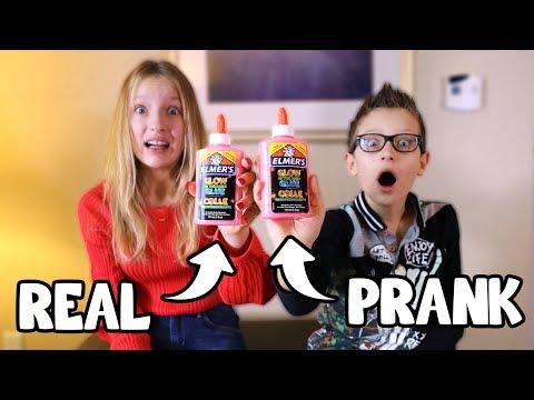 REAL vs PRANK SLIME CHALLENGE!!!