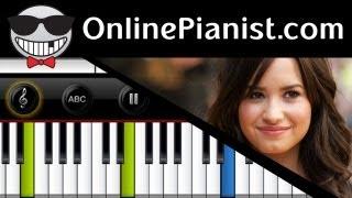 """Demi Lovato - Warrior (""""Demi"""" album) - Piano Tutorial"""
