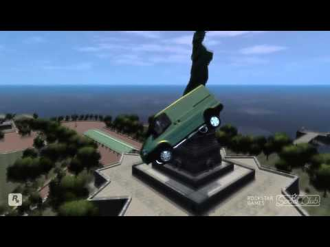 GRAND THEFT AUTO IV 2011 FORD TRANSIT VAN CRASH TESTING HD