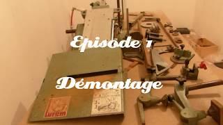 Restauration combinée bois LUREM C210b Partie 1/ Episode 1(Démontage)