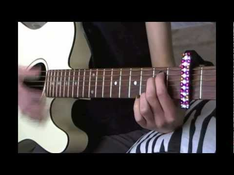 Easy Guitar Tutorial For TURN UP THE MUSIC By Chris Brown!!!!