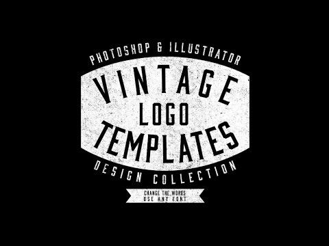 Vintage Workwear Logo Templates - YouTube