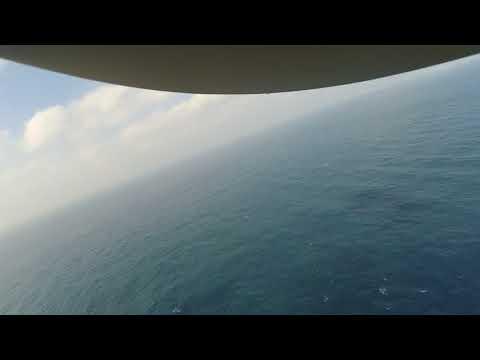 Large load logistics flight between 20km offshore platform