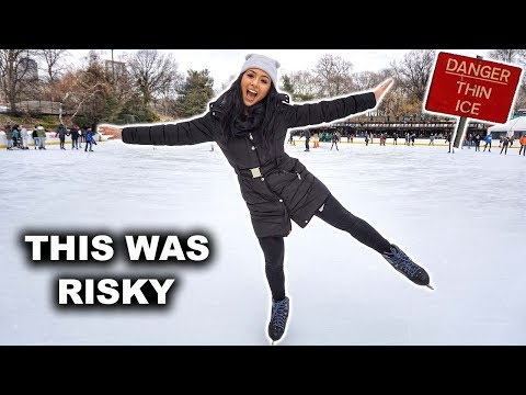 Skating On Thin Ice | Ice Skating | This Was Risky | Nike Town | New York City