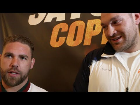TYSON FURY & BILLY JOE SAUNDERS GO OFF ON ONE WHEN ASKED ABOUT ANTHONY JOSHUA & 'ROLE MODELS'