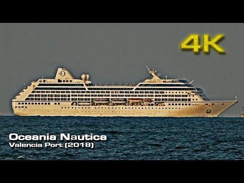 Oceania Nautica [4K]  Cruise Ship leaving Valencia (2018)