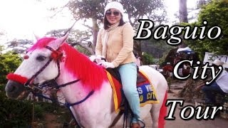 VLOG: DAY 1 Baguio City Tour ( PMA, Strawberry Farm, Mines View) and Fun!! May1-5 2013