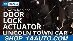 How to Replace Repair Install Front Power Door Lock Actuator Lincoln Town Car 98-02 1AAuto.com