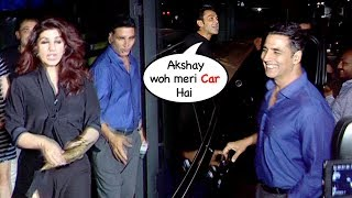 Akshay Kumar CAUGHT Drunk At His Birthday Party He Can't Even Recognize His Car From Bobby Deol's