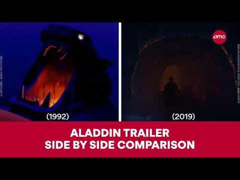ALADDIN TRAILER COMPARE SHOT