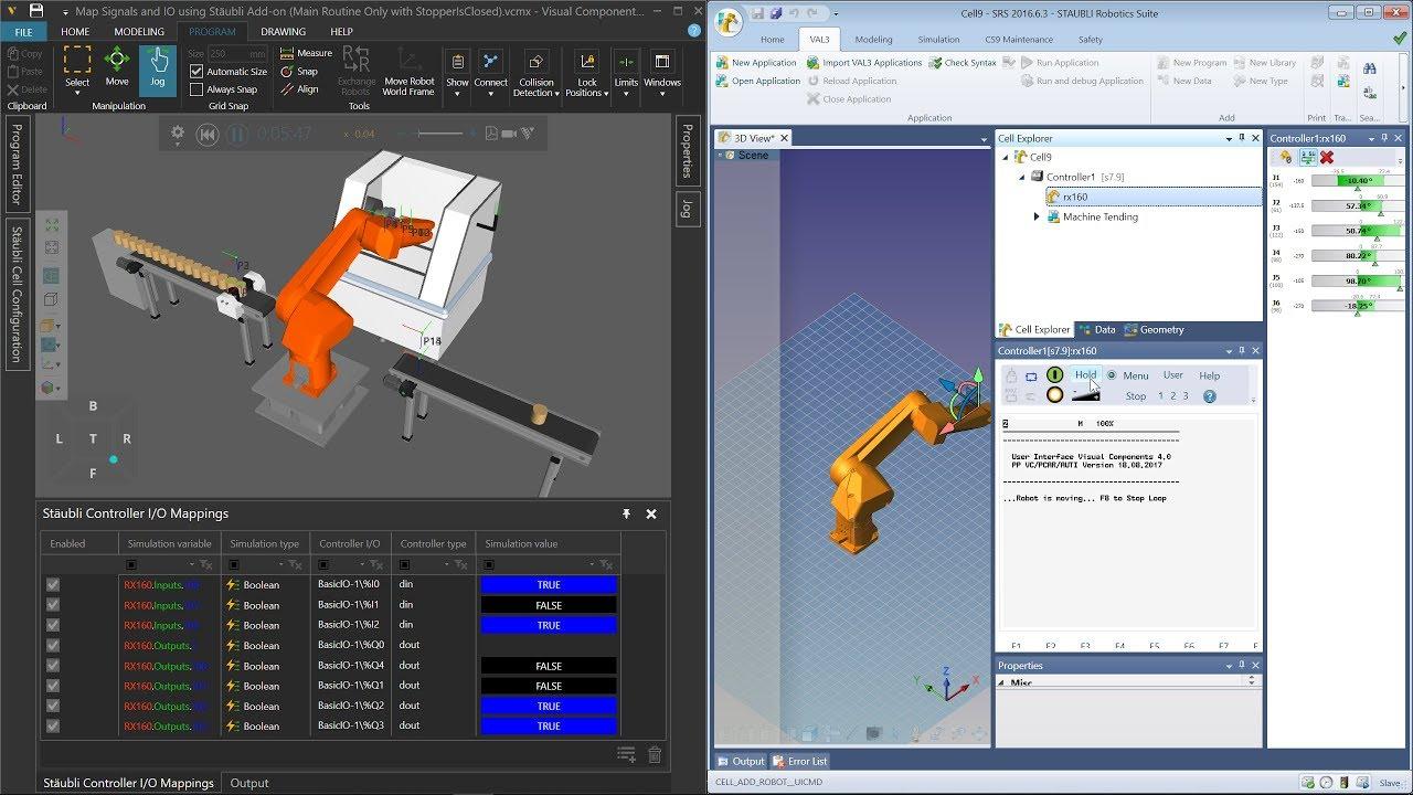 Offline Programming with Stäubli Robots   Visual Components Academy