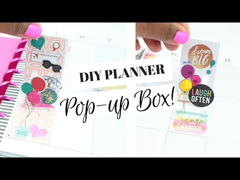 DIY Pop-Up Box For Your Planner | Scrapbooking Style! | At Home With Quita