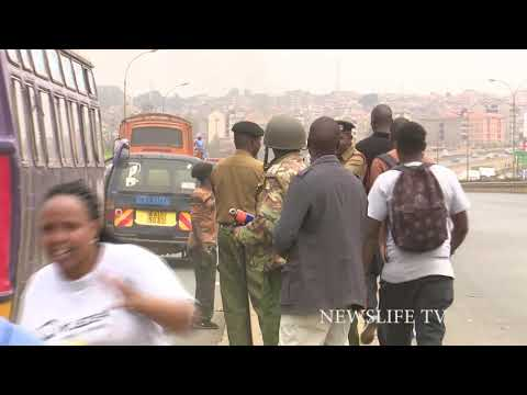 TEARGAS AS GITHURAI MARKET STALLS ARE DEMOLISHED BY COUNTY GOVERNMENT