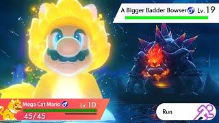 Gigantamax Cat Mario vs. A Bigger Badder Bowser in Super Mario 3D World + Bowser's Fury
