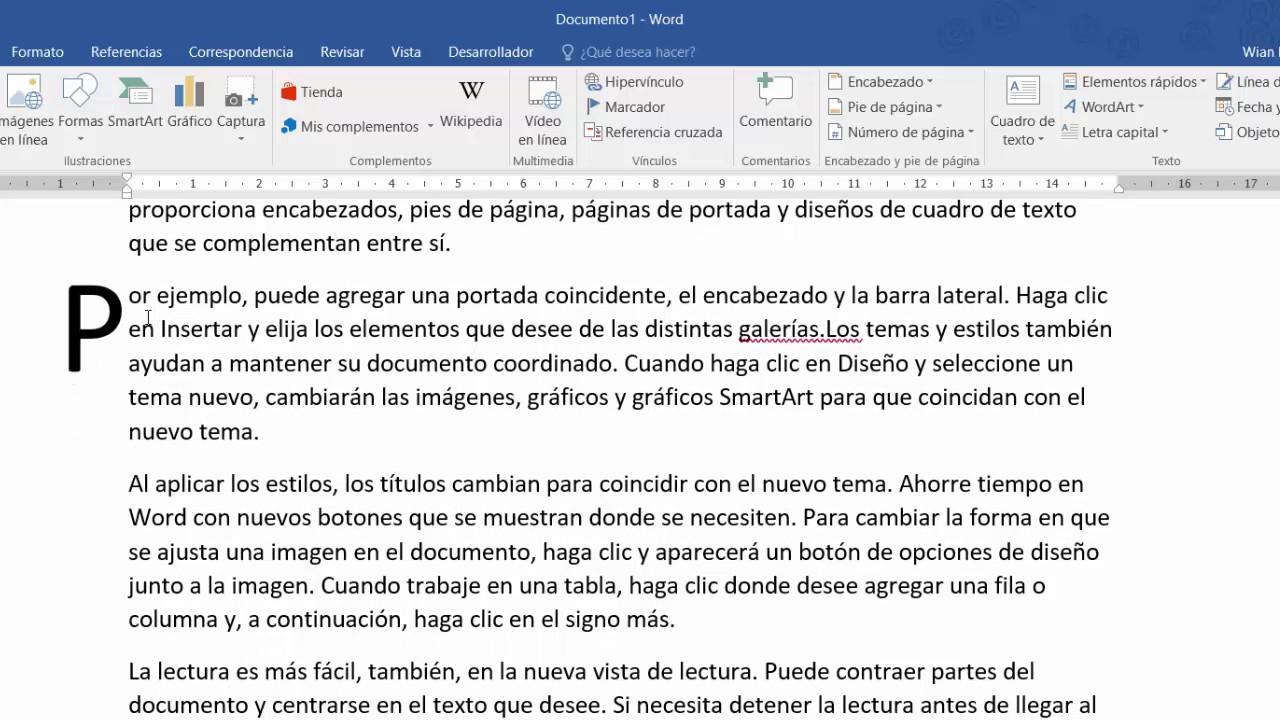 Cual Es El Tipo De Letra Capital En Word Aplicación de Letra Capital ...