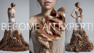 Premium Dress | How to sew Haute Couture Fashion Dress DIY