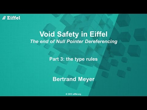 Void Safety in Eiffel, Part 3: the Type Rules
