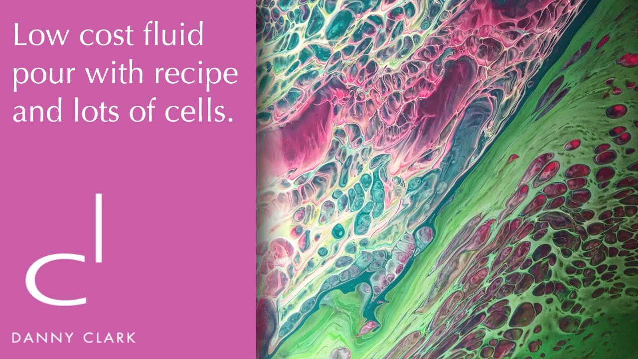 Low Cost Acrylic Pouring Recipe With Lots Of Cells Ep10 Youtube