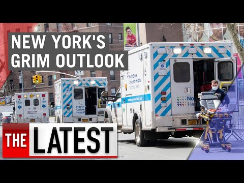 Coronavirus: New York's Grim Outlook As Hospitals Fill And Cases Spike | 7NEWS