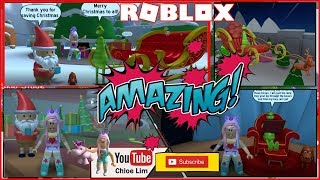 Roblox The Grinch Obby Gameplay! Saving Christmas from the Grinch! Loud Warning!