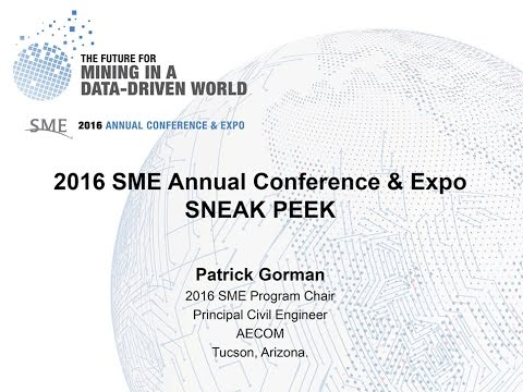 2016 SME Annual Conference & Expo Sneak Peek webinar