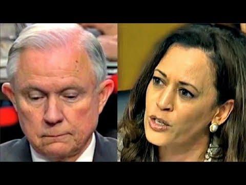 Download Youtube: Kamala Harris makes Jeff Sessions NERVOUS