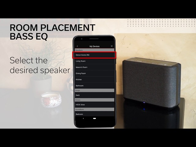 Denon Home Speakers – Room Placement Bass Tuning