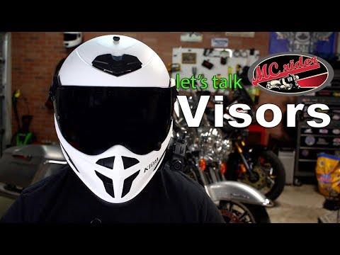 Let's talk motorcycle helmet visors