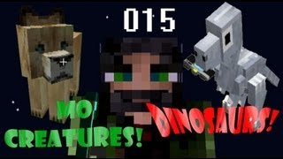 Minecraft Dinosaurs & Mo Creatures 015 - Camera-Eating Velociraptor, a Mutant Pig and T-Rex DNA!