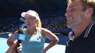 CoCo Vandeweghe and Pat Cash on-court interview (RR) | Mastercard Hopman Cup 2018