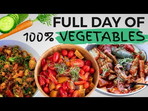 FULL DAY OF EATING ONLY VEGETABLES
