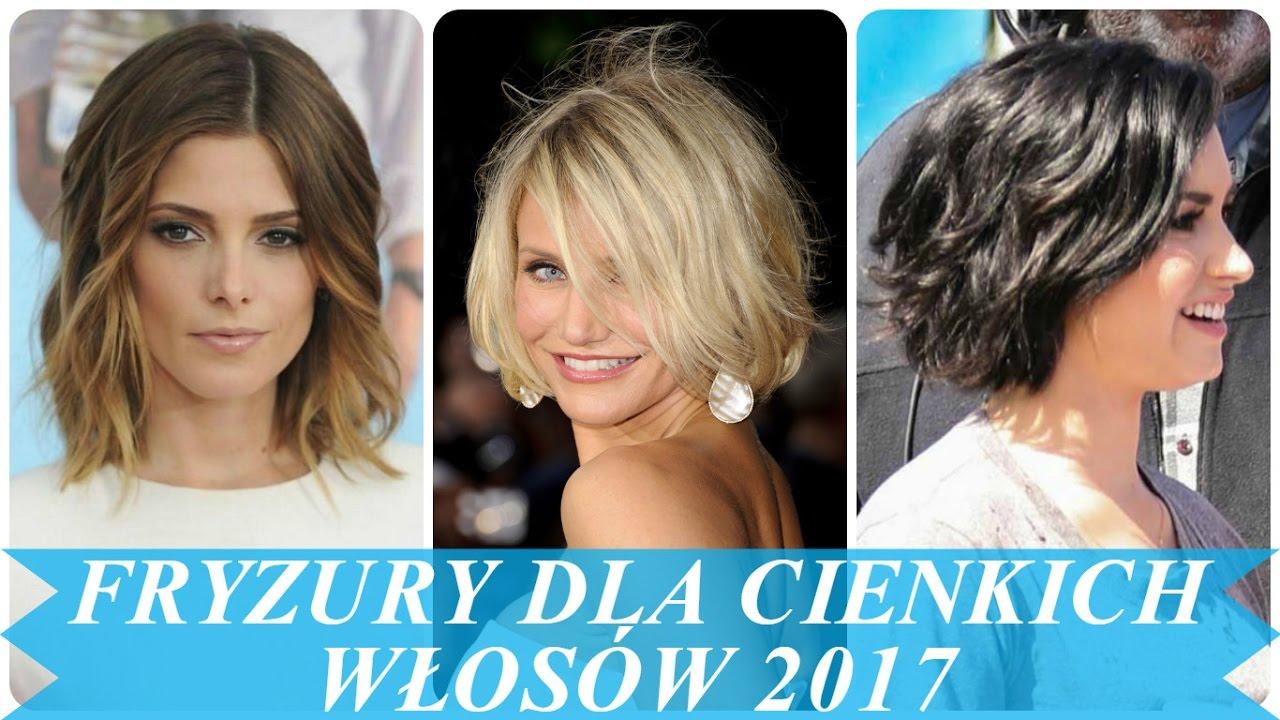 Piękny Fryzury Dla Cienkich Włosów 2017