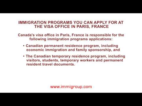 Immigration programs you can apply for at the visa office in Paris, France