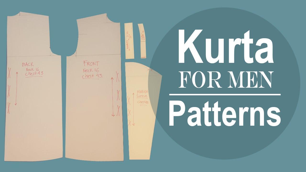 Mens jacket pattern making - Men S Kurta Patterns Cloud Factory