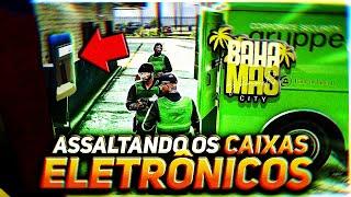 ASSALTANDO OS CAIXAS NA FRENTE DA POLÍCIA!? GTA RP