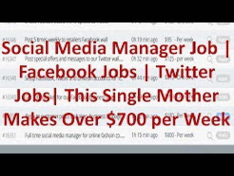 Social Media Manager Job | Facebook Jobs | Twitter Jobs| This Single Mother Makes Over $700 per Week
