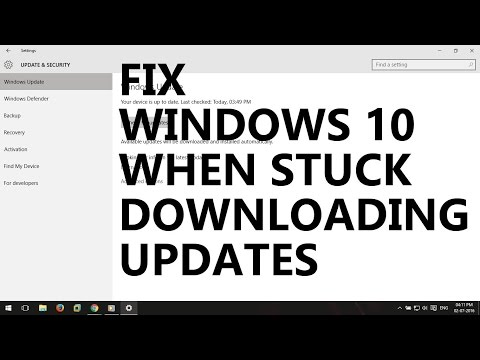 Fix Windows 10 when stuck downloading updates