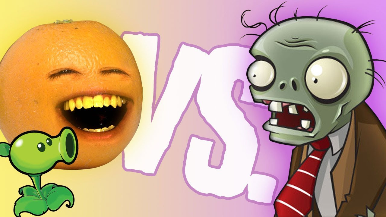 Annoying Orange Vs Plants Vs Zombies Youtube