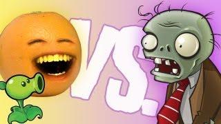Annoying Orange - vs Plants vs Zombies