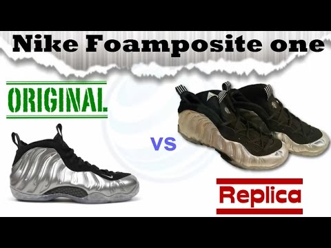 22aa5268b99 Original vs fake Nike foamposite one replica Spanish continues Elevating  your level!