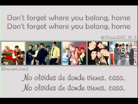 One Direction - Don't Forget Where You Belong (Lyrics ...