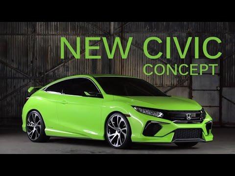 New Honda Civic Concept Si 2016 Youtube