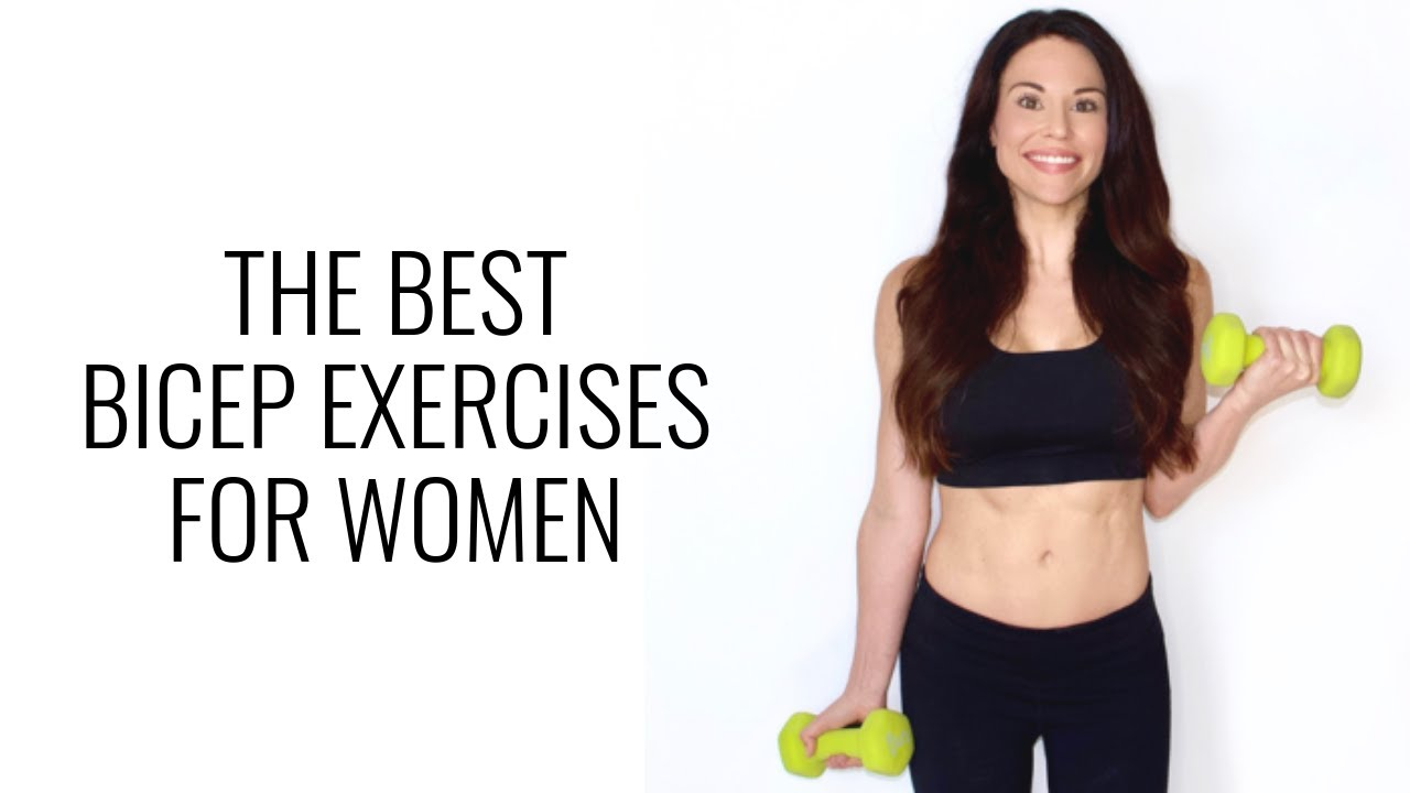 The Best Bicep Exercises for Women - Christina Carlyle - YouTube