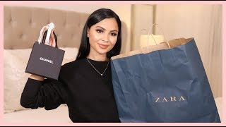 ZARA Fall Clothing Haul + Unboxing My New Chanel Purchase